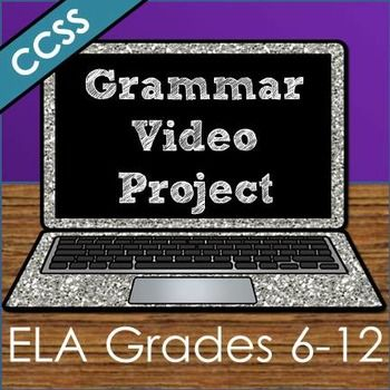 Students become TEACHERS as they make their own instructional grammar videos that YOU can use all year long! This is my students' FAVORITE project that has become a tradition!