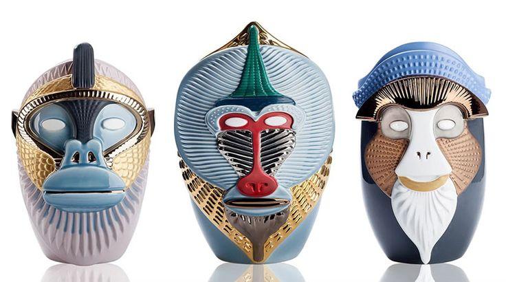 Primates: Ceramic Vases by Elena Salmistraro