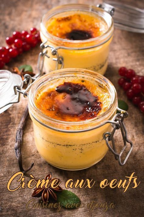 Crème aux oeufs vanille à l'ancienne
