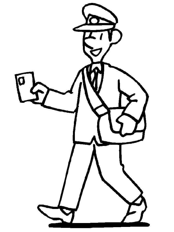 find this pin and more on occupations crafts postman coloring pages