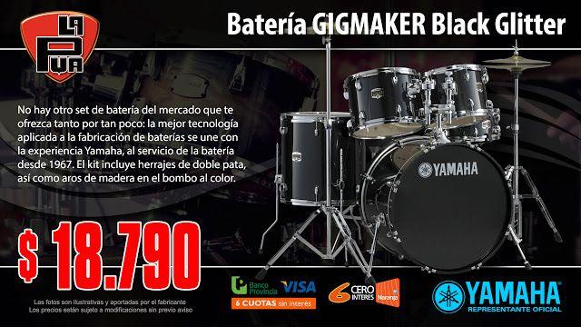 La Púa San Miguel: Batería YAMAHA GIGMAKER Black Glitter