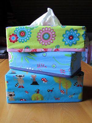 Tutorial und eine Hülle für eine Taschentücherbox zu nähen - #zupferle #hülle #tutorial  by Streuterklamotte <3