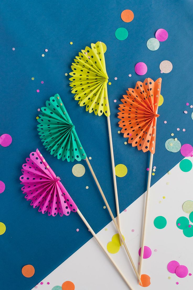 TELL: DIY PAPER FAN DRINK STIRRERS – Tell Love and Chocolate