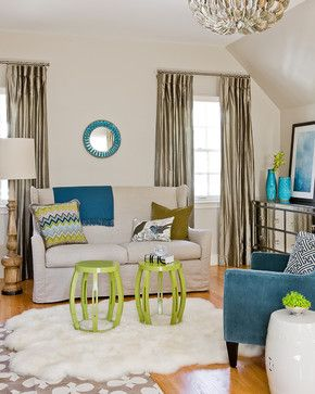 Color Inspiration : Chartreuse touches Silver gray Blues!