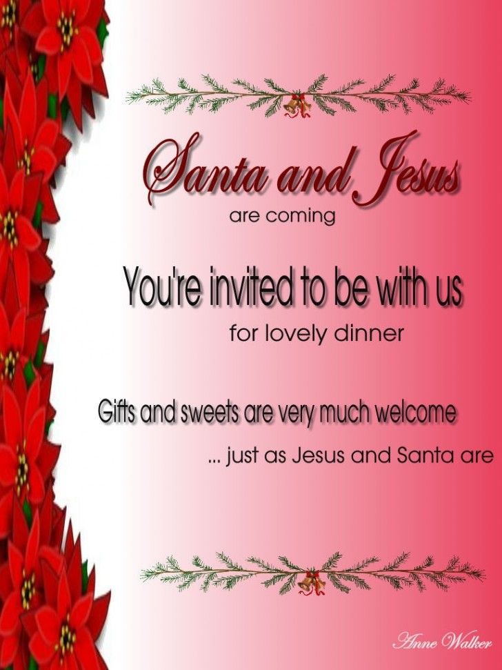 34 best Party Invitations images on Pinterest Card patterns - christmas dinner invitation template free