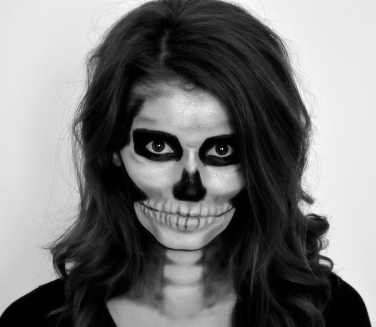 Skeleton makeup tutorial for Halloween | Scary makeup ideas for Halloween