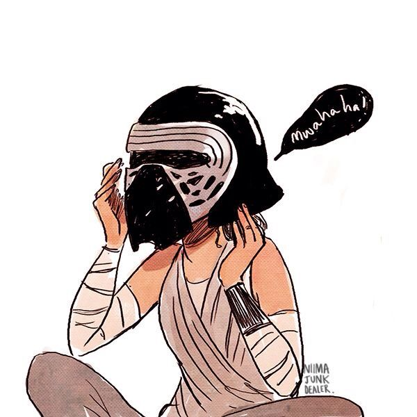 Yas.  Don't tell me Rey wouldn't try on Kylo's mask if given the chance, you know she would.