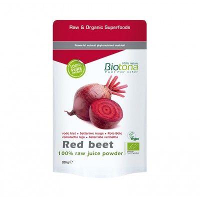Remolacha Polvo Biotona 250gr  *La remolacha roja es una verdura raíz que se acomoda a suelos pobres, tan bien, que en el pasado era el alimento de los agricultores. Hoy, la remolacha roja es buscada y merece ampliamente el título de super verdura.