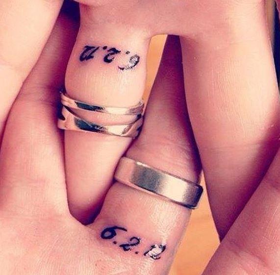 Resultado de imagen de tatuaje fecha dedo