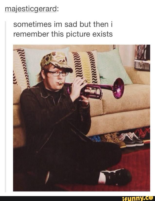 I give you Patrick playing the trumpet seductively