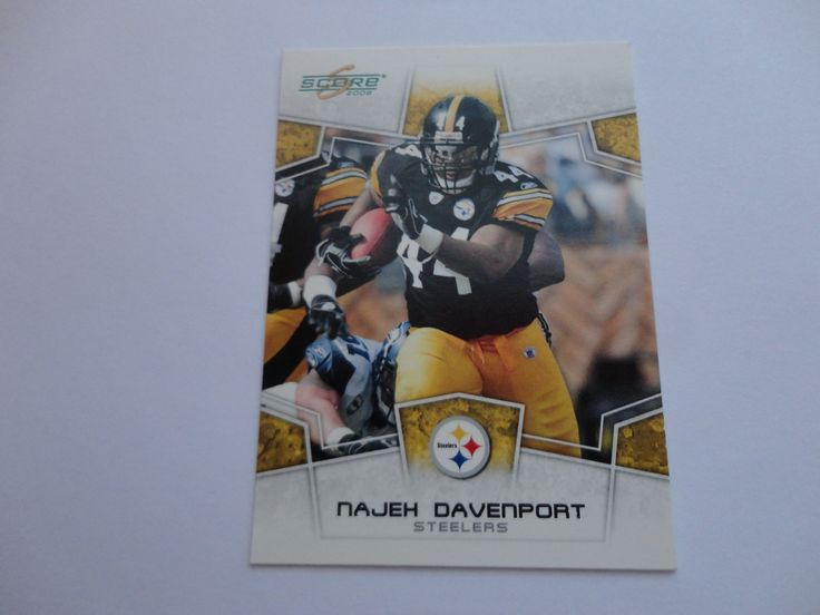 Najeh Davenport 2008 Score Football Card.