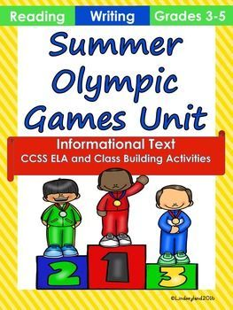 This unit features everything you need to teach your students about the Olympics and inspire them to learn like champions! Includes reading, writing, and class building activities. Seven non-fiction text articles about the Summer Olympics and famous Olympians come with comprehension questions aligned to CCSS.