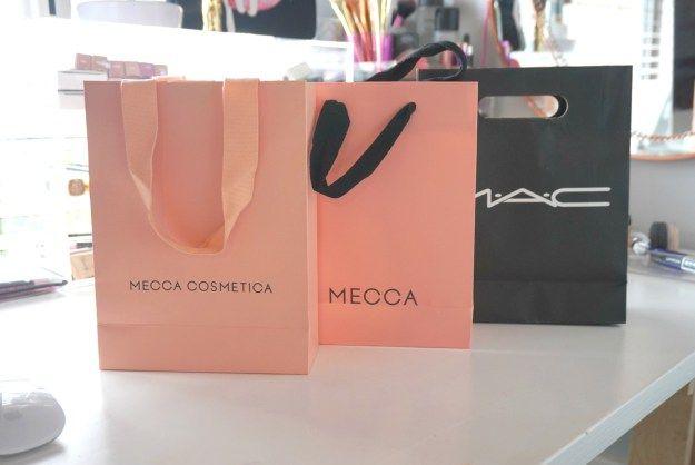 my perth haul, mecca cosmetica, mecca maxima and mac