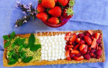 Crostata tricolore  Italian tart  #pie #tart #crostata #strawberry #fragole