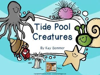 Tide Pool Creatures {emergent reader and write the room}
