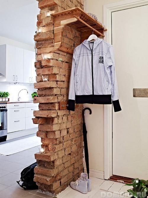 Кирпичная стена в интерьере современного дома, варианты оформления, полезные советы