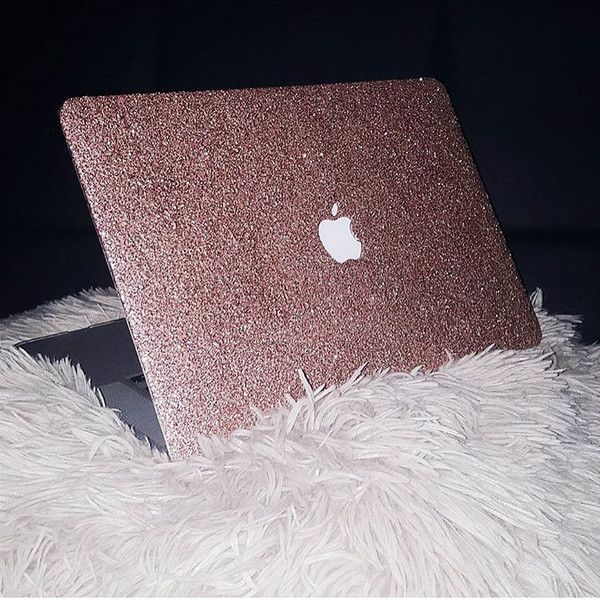 outlet store b9173 34da9 Glitter Macbook Case- Rose Gold … | Macbook case | Macbo…