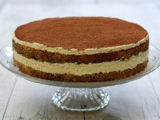 Recette Dessert : Le tiramisu en version gâteau par AmandineCooking