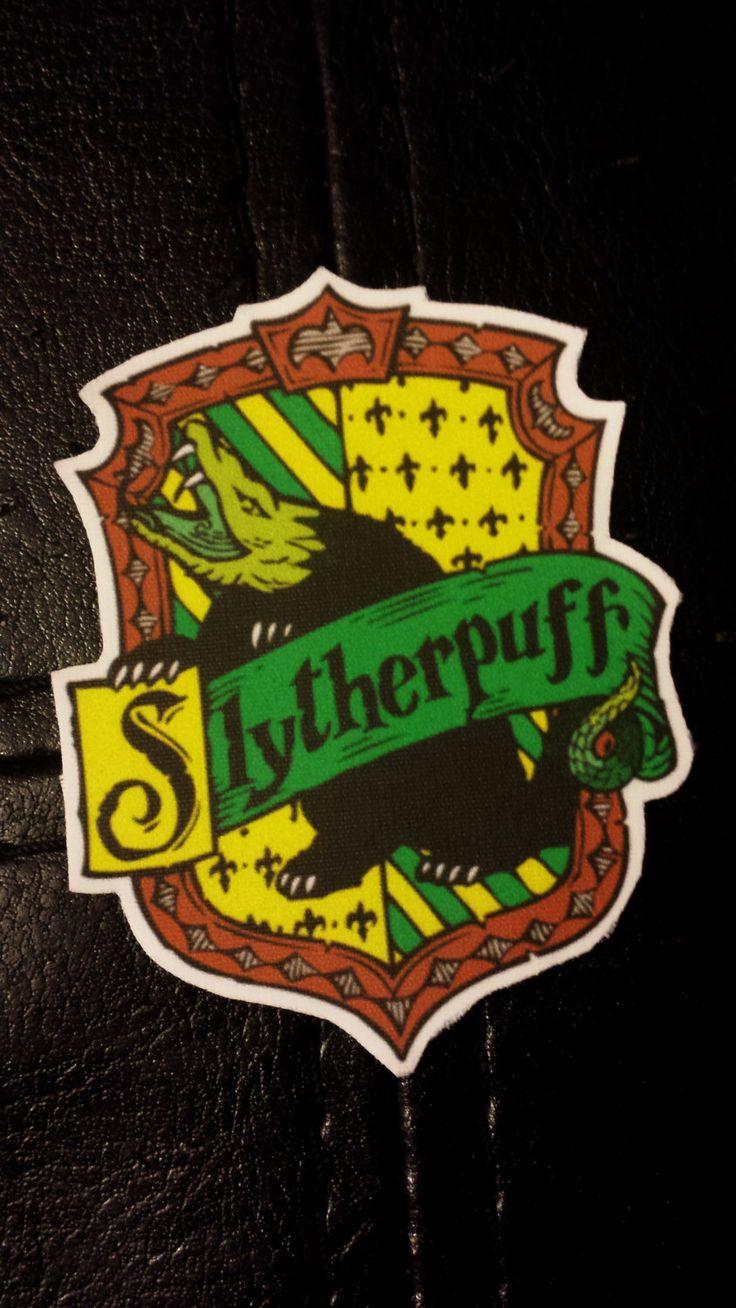 Harry Potter Slytherpuff Cross-House Crest Vinyl Sticker ...