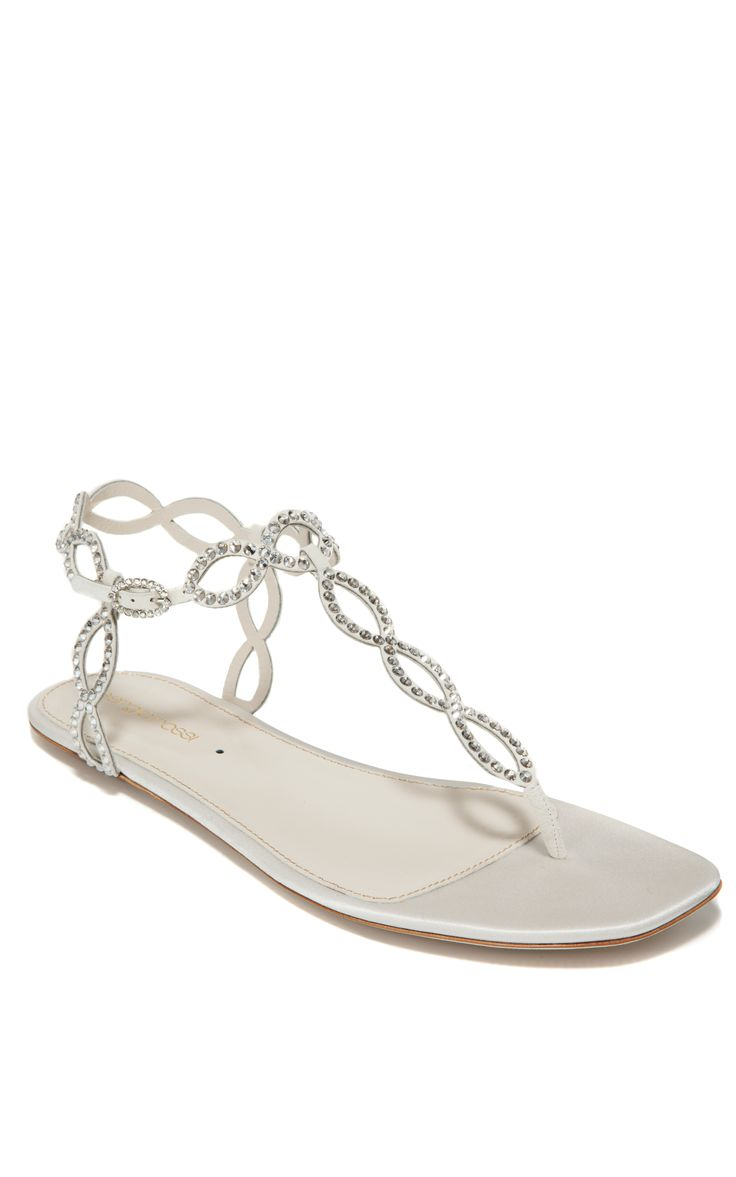 Shoes zone sandals - Sergio Rossi Ivory Flat Jeweled Sandal Http Womenspin Com