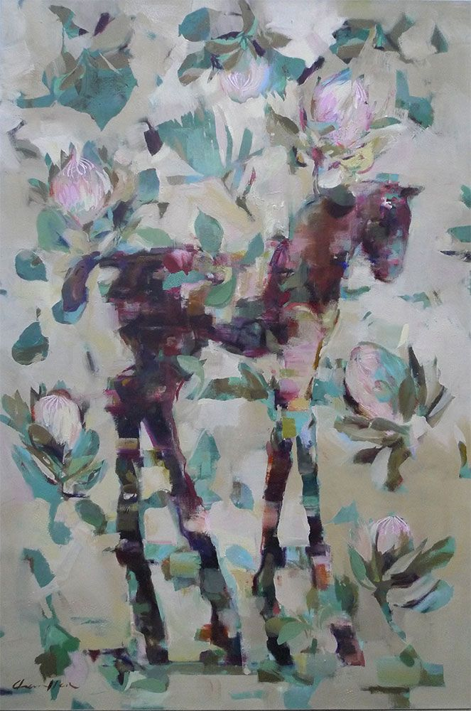 Pale Protea Filly by Pascale Chandler | Paintings Of Horses | StateoftheART