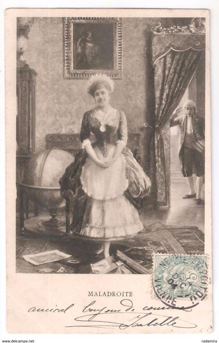 "Carte Postale Ancienne ""MALADROITE"" 1904 France."