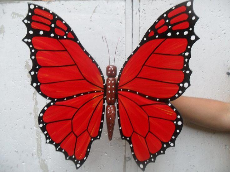 imagenes de mariposas pintadas en madera - Buscar con Google