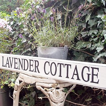 Personalised House Sign Vintage Style