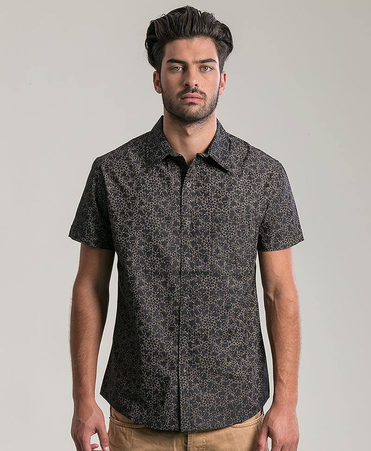 Psychedelic Mens Button Up Shirt In Black, Lsd Molecule All Over Print Short Sleeve Button Down Shirt Mens Clothing by IIISOLIII on Etsy https://www.etsy.com/listing/288513593/psychedelic-mens-button-up-shirt-in