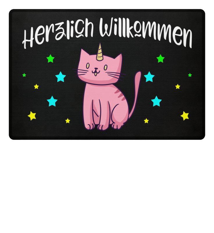Katze Einhorn Fußmatte