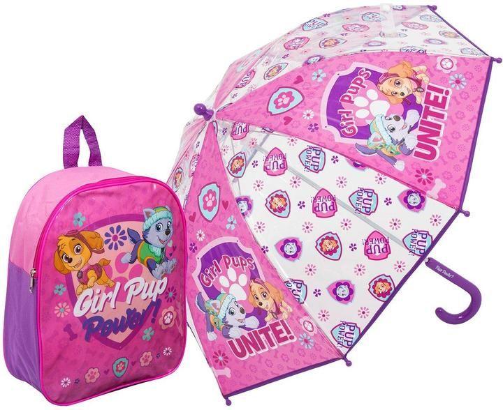 Paw Patrol Backpack & Umbrella Girls Set