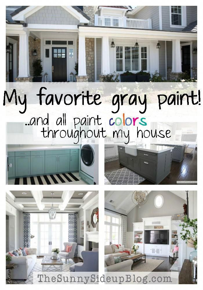 My favorite gray paint! And all paint colors throughout my house