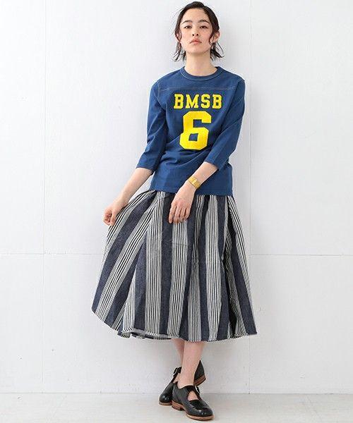 BEAMS BOY(ビームスボーイ)のBEAMS BOY / テンジクフットボール 3/4T(Tシャツ/カットソー)|詳細画像                                                                                                                                                     もっと見る