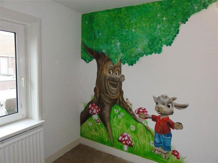 Mooie muurschildering voor baby kamer muurschi deringen pinterest baby and photos - Muurschildering volwassen kamer ...