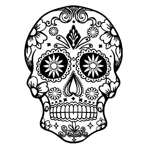 Free Sugar Skull SVG Cut File VINYL IDEAS Sugar skull