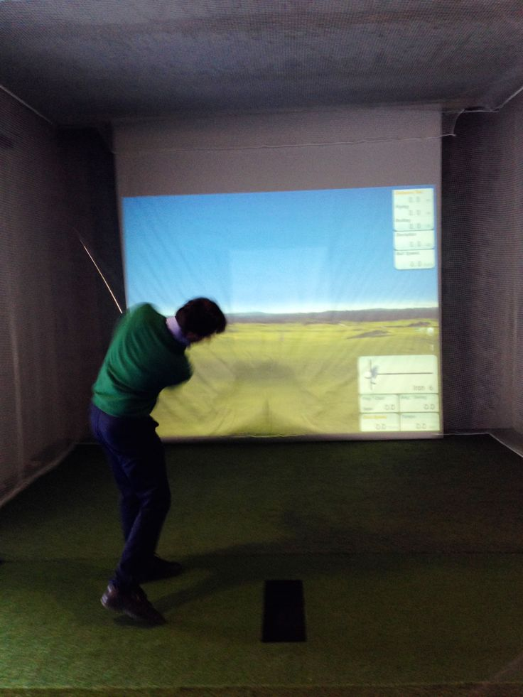 Golf simulator at the Golf Club Udine - Fagagna, Italy
