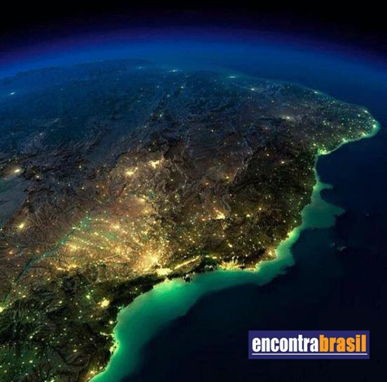 Imagem do Brasil visto por um satélite da NASA