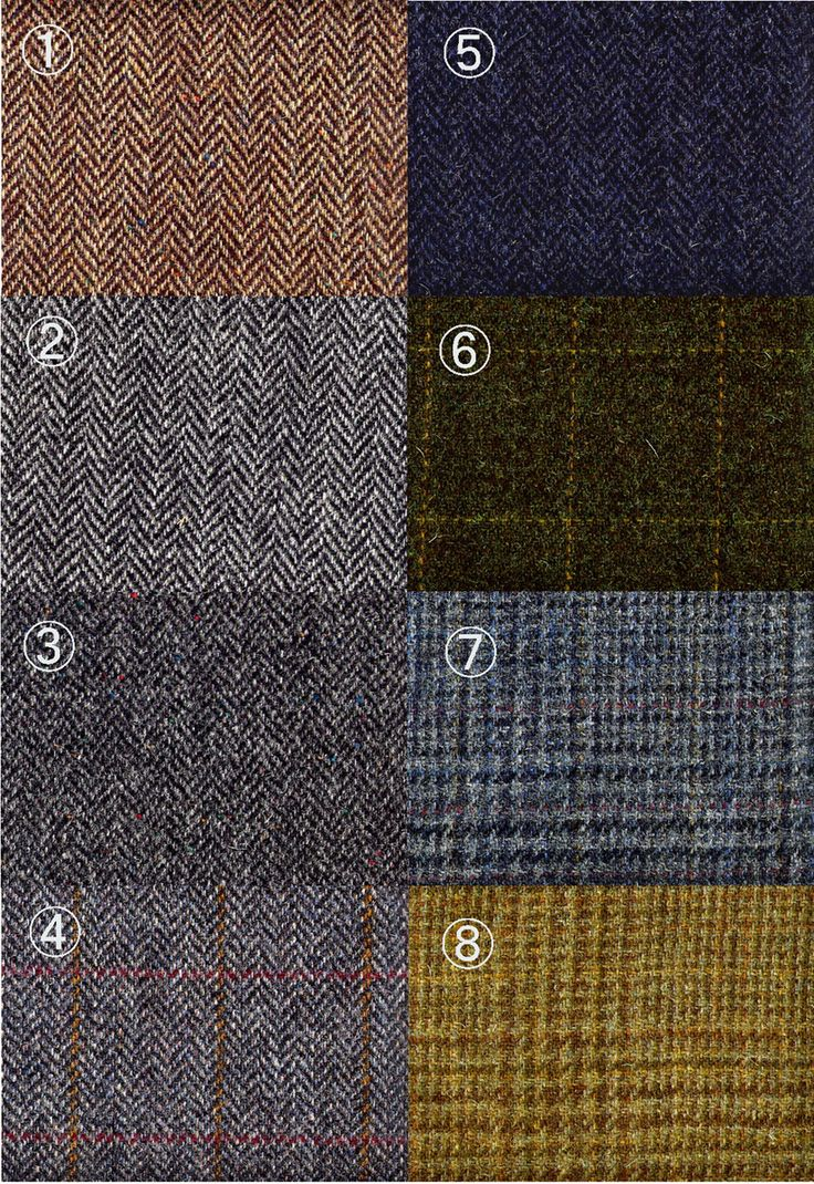 Harris Tweed - muted tones from vegetable dyes match the landscape of Scotland
