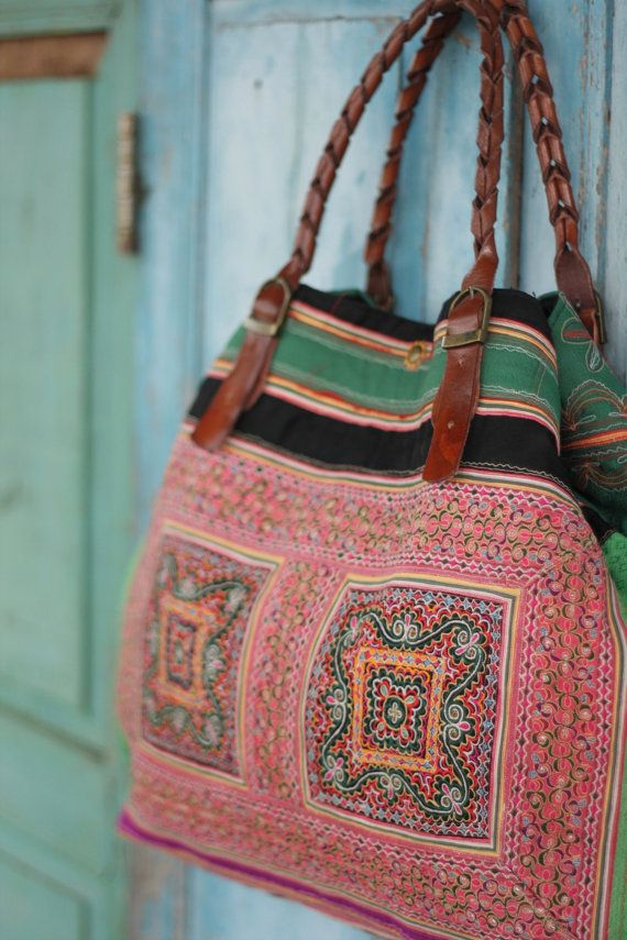 Luxury Lanna Hmong tote bag vintage deluxe by LuxuryLannaCrafts, $199.00