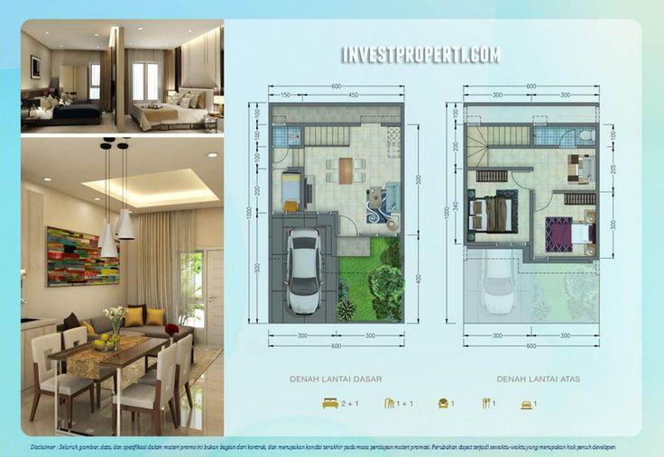 Denah rumah Paradise Serpong City cluster Carara.