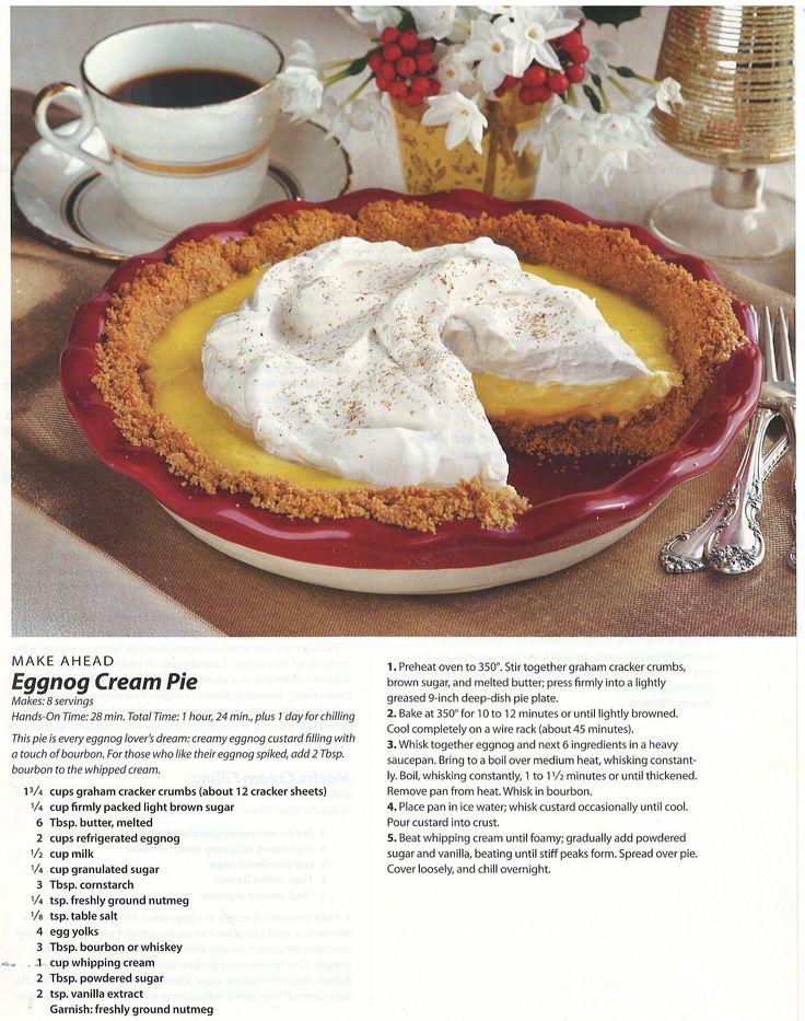 Eggnog Cream Pie | Festive Fall | Pinterest