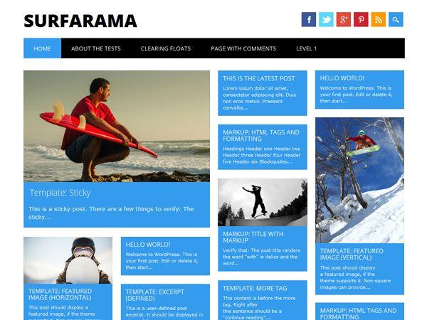Download Surfarama Theme for your WordPress Blog