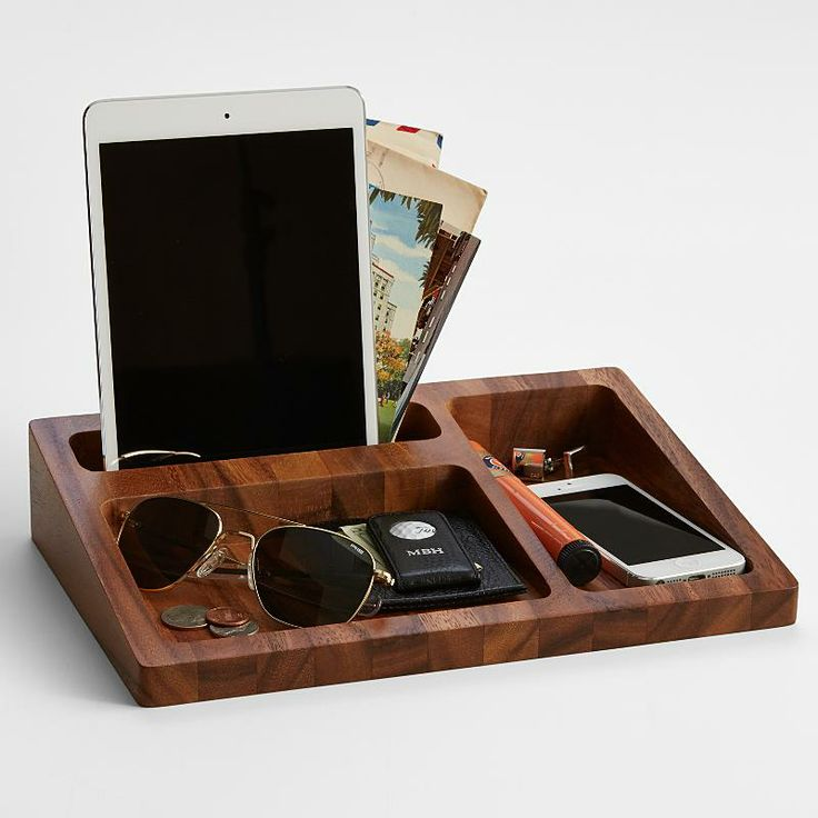 wood tray valet from RedEnvelope