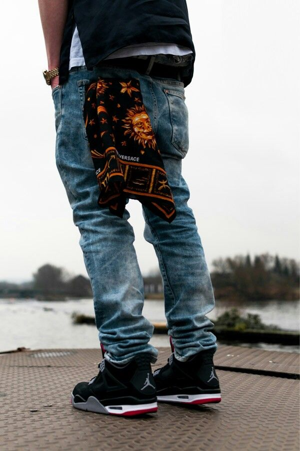 Blue Jeans And Versace And Jordans Swag Pinterest Jordans Versace And Blue Jeans