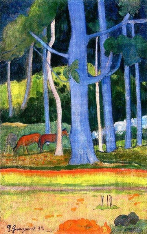 Paul Gauguin - Landscape with blue, 1892