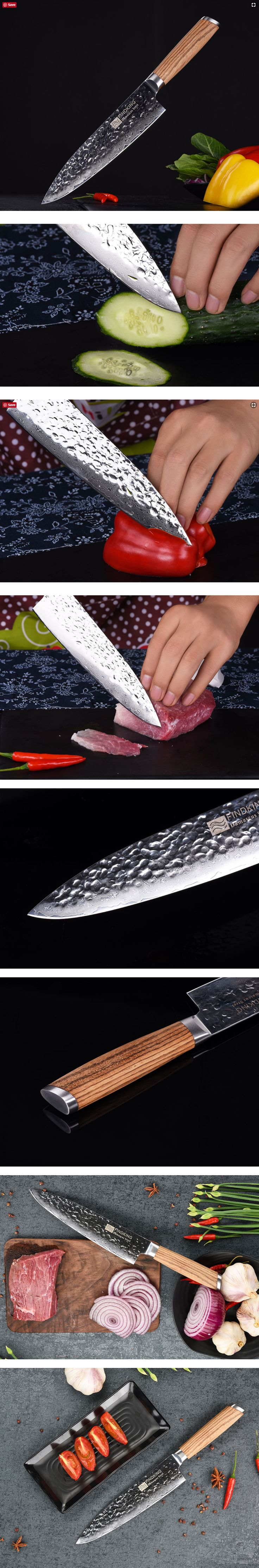 Wood Handle Damascus Knife 8 Inch Professional #chef #knife 67 Layers  Damascus Steel Kitchen