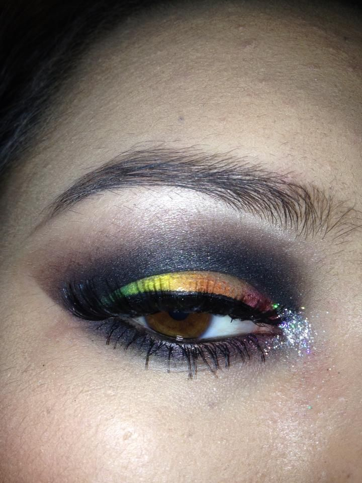 Rainbow eye that I wore to the gay club :)