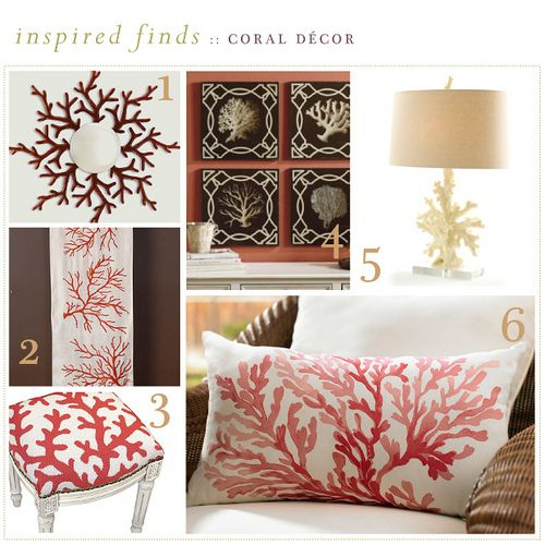 Coral Home Decor When I Grow Up Pinterest