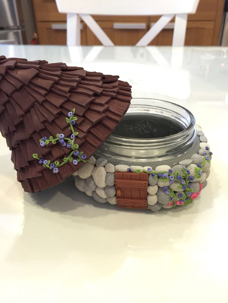 Polymer clay House jar - Our Secret Crafts