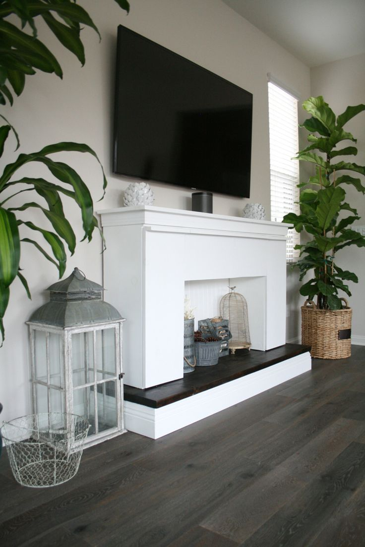 Faux Fireplace. DIY tutorial on building one for your home | Bonfire beautiful